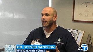 dr steven sampson orthohealing center featured on abc 7 discussing biohacking technology to stimulate healing 5ff37d884e2bb