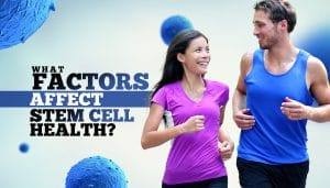 couple jogging exercise stem cell