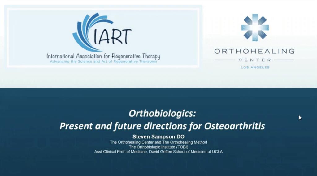 Dr Sampson IART orthobiologics